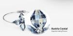 กำไลข้อมือ Platinum Plated ประดับออสเตรียคริสตัลแท้จากสวารอฟสกี้