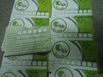 บัตรตัวอย่างบางส่วน บัตรพลาสติก พีวีซ๊การ์ด