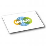บัตรทาบสีขาว คีย์การ์ด RFID บัตรมายแฟร์การ์ด 13.56 Mhz  1 K.