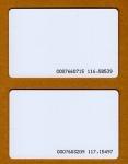 บัตรพลาสติกสีขาว Proximity Card 125 khz