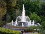 บ่อน้ำพุวงกลม 2 ชั้น พร้อมวง Ring และทรงต้นสน 8 หัว ที่ สวนน้ำทิพย์ วัลเล่ย์ ภูเ