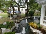 น้ำพุแต่งสวน บ่อ Free Form ต้นสน 6 หัว ที่บ้าน คุณานันทกุล