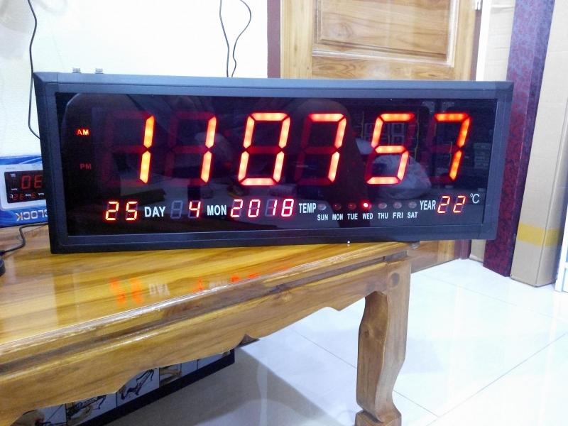 นาฬิกาดิจิตอลขนาดใหญ่พิเศษ BIG SIZE สีแดง.
