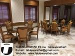 Trp.ทีอาร์พี ชุด กระจก จานหมุน โต๊ะจีน เลซี่ ซูซาน Lazy Susan LZ18 G90 T160 C10