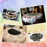 Py.พีวาย ชุด กระจก จานหมุน โต๊ะจีน เลซี่ ซูซาน Lazy Susan LZ20 G100 T180 C12