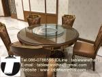 Trp.ทีอาร์พี ชุด กระจก จานหมุน โต๊ะจีน เลซี่ ซูซาน Lazy Susan LZ28 G150 T230 C18