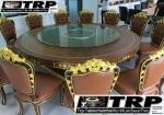 Trp.ทีอาร์พี ชุด กระจก จานหมุน โต๊ะจีน เลซี่ ซูซาน Lazy Susan LZ16 G80 T150 C8