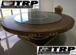 Trp.ทีอาร์พี ชุด กระจก จานหมุน โต๊ะจีน เลซี่ ซูซาน Lazy Susan LZ18 G80