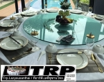 Trp.ทีอาร์พี ชุด กระจก จานหมุน โต๊ะจีน เลซี่ ซูซาน Lazy Susan LZ24 G120 T200 C14