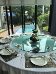 กระจกจานหมุนบนโต๊ะอาหาร,เรซีซูัซัน,เลซี่ซูซาน,Glass,Lazy Susan,รุ่น G-100-10,ขนาด 100 cm,Banquet