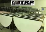 Trp.ทีอาร์พี โต๊ะกลม โต๊ะจีน ขนาด 150 cm.นั่ง 8 คน โต๊ะกลม พับครึ่ง มีล้อ,หน้าขา