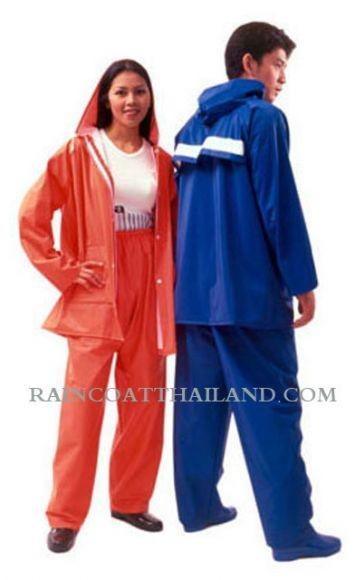เสื้อกันฝนผู้ใหญ่ แบบชุดเสื้อและกางเกง ผ้า 2 หน้าอย่างดี 30- RG014