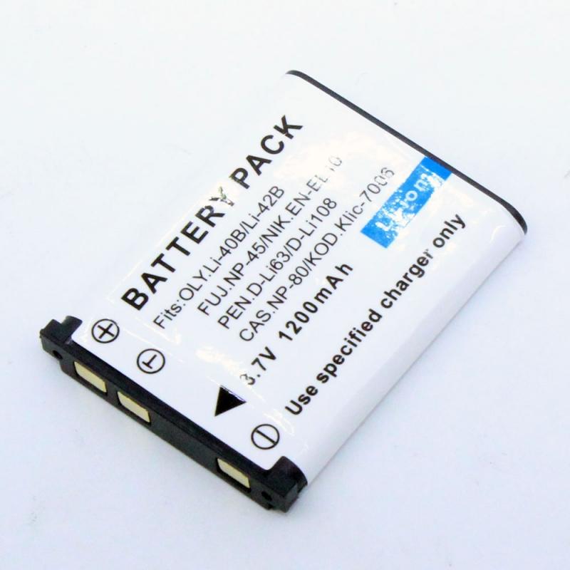 แบตเตอรี่ สำหรับกล้อง Sanyo รหัสแบต NP45+ (ความจุ 1200mAh) ประกันร้าน 6 เดือน