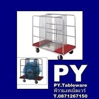 รถเข็นกระจก,รถเข็นเก็บกระจก Lazy susan trolley,Made In Thailand,Stainless ขนาด L125xW64xH118 cm. ราย