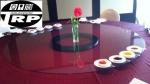กระจก จานหมุน โต๊ะจีน เลซี ซูซาน Lazy Susan Turntable กระจก กลมใส ขนาด 80 cm.หนา 10 mm.จานหมุน 18 นิ
