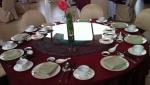 กระจก จานหมุน โต๊ะจีน เลซี ซูซาน Lazy Susan Turntable กระจก กลมใส ขนาด 110 cm.หนา 10 mm.จานหมุน 24 น