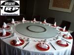 T120 C6-LZ14 G60 Trp.ทีอาร์พี ชุด โต๊ะ เก้าอี้ กระจก จานหมุน โต๊ะจีน เลซี่ ซูซาน
