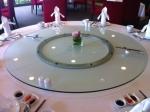 T150 C8-LZ18 G80 Trp.ทีอาร์พี ชุด โต๊ะ เก้าอี้ กระจก จานหมุน โต๊ะจีน เลซี่ ซูซาน