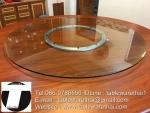 Py.พีวาย ชุด กระจก จานหมุน โต๊ะจีน เลซี่ ซูซาน Lazy Susan LZ28 G140 T220 C16