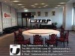Trp.ทีอาร์พี ชุด กระจก จานหมุน โต๊ะจีน เลซี่ ซูซาน Lazy Susan LZ28 G140