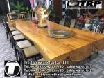 โต๊ะกลม โต๊ะจีน ขนาด 150 cm.นั่ง 8 คน โต๊ะกลม พับครึ่ง มีล้อ,หน้าขาวโฟเมการ์,ขาเ