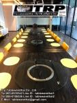 60 cm,หนา 10 cm กระจกกลมใสกระจกจานหมุนบนโต๊ะอาหารโต๊ะกินข้าวโต๊ะจีนโต๊ะจัดเลี้ยง,กระจกกลมหมุน,เรซีซู