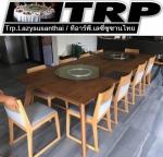 Trp ทีอาร์พี กระจกกลมใส ขนาด 60 cm.หนา 8 mm.จานหมุน 14 นิ้ว (สำหรับโต๊ะ 110-120