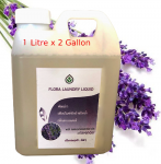FLORA Laundry Liquid with natural essential oils of Lavender 1 Liter x 2 Gallons